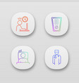 emotional stress app icons set vector image vector image