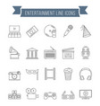 entertainment line icons vector image