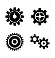 gear cogwheel mechanism simple related vector image vector image