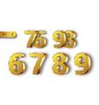 golden metal numbers realistic vector image vector image