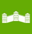 great wall of china icon green vector image vector image
