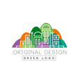 green logo original design logo colorful city vector image vector image