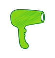 hair dryer sign lemon scribble icon on vector image vector image