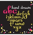 Hand drawn letters alphabet vector image vector image