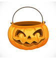 jack o lantern bag for candy on halloween vector image