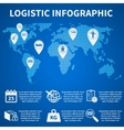 Logistic infographic icons vector image vector image