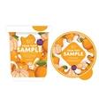 Mandarin Yogurt Packaging Design Template vector image vector image