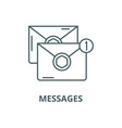 messages line icon linear concept outline vector image vector image