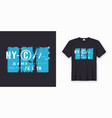 new york city stylish t-shirt and apparel design vector image