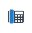 office phone related glyph icon vector image vector image