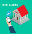 online banking isometric projection concept vector image vector image
