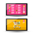 online food shop grocery - supermarket on-line vector image