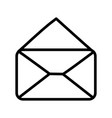 open envelope message mail icon thick line vector image