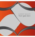 Orange black abstract background vector image vector image