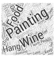 paintings of food and wine Word Cloud Concept vector image vector image