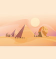 panorama of the ancient egyptian pyramids vector image