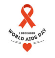 red ribbon world aids day immune system disease vector image