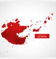 red splatter stain background vector image vector image
