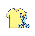 resizing clothes rgb color icon vector image vector image