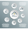 Roofer paper infographic vector image