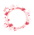 Rose round banner vector | Price: 1 Credit (USD $1)