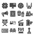 set cinema and entertainment icons vector image vector image