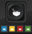 Spaghetti icon symbol Set of five colorful stylish vector image vector image
