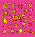 stars doodle collection of star shapes vector image vector image