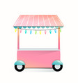 street market stand empty trade stall for sweet vector image