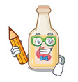 student apple cider isolated with mascot vector image vector image