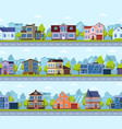 suburban seamless cityscape panoramic street vector image