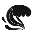 Surf wave icon simple style