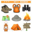 travel icons set 4 vector image vector image