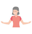 woman adult character vector image