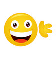 yellow emoticon cartoon character vector image vector image