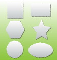 Collection of different shape paper tears vector image