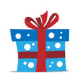 blue gift box vector image