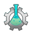 Lab Gear Logo Icon Symbol vector image