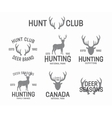 Set of vintage hunting and deer logo and label vector image