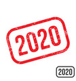 2020 rubber stamp with grunge texture design vector image vector image