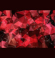 abstract space red background chaotically vector image vector image