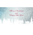 abstract winter snow new year and merry christmas vector image vector image