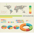An infographics with pie graphs vector image vector image