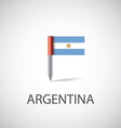 argentina flag pin vector image vector image
