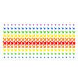 arrow down right shape halftone spectrum grid vector image vector image