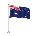 australian flag isolated wave flag australia vector image vector image