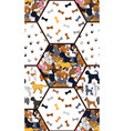 awesome seamless pattern with cartoon cute dogs vector image vector image