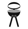 barbecue grill icon simple style vector image vector image