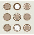 Beige and brown vintage badges templates vector image vector image