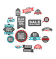 black friday icons set cartoon style vector image